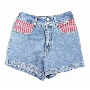 Ladies jeans, high waisted shorts.
